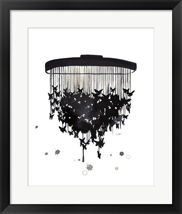 Framed Butterfly Chandelier Print