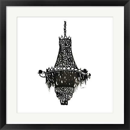 Framed Crystal Chandelier Print