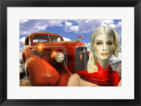 Framed 1936 Lasalle Coupe Print