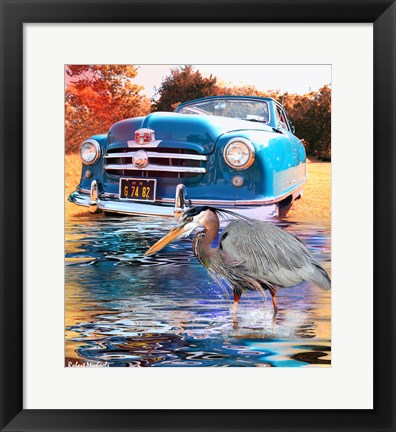 Framed 1950 Nash Rambler Convertible Print
