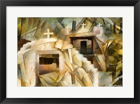 Framed Abstract Cubistic Church Print