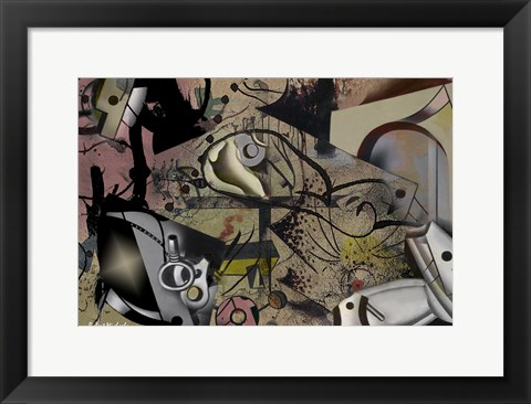 Framed Abstract Dimensions Print