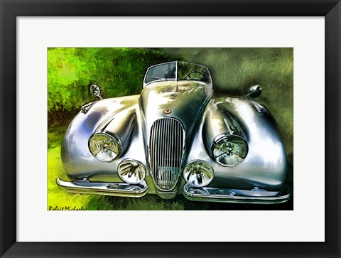 Framed Front of Classic Jag Print