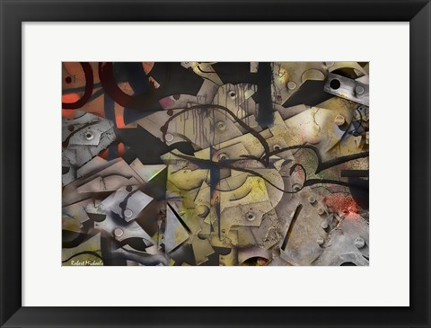 Framed Full Metal Abstract Print