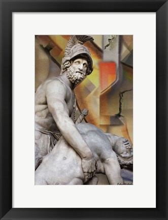 Framed King of Sparta Print