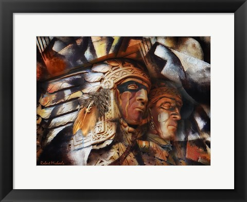 Framed Two Native Americans Print