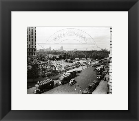 Framed Central Park from the south west corner looking north, New York, New York- early 1900's Print
