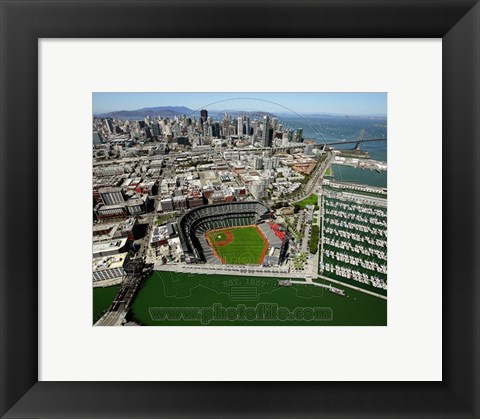 Framed Aerial view of San Francisco, California Print