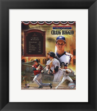 Framed Craig Biggio MLB Hall of Fame Legends Composite Print