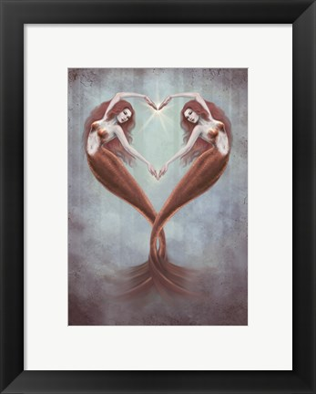 Framed Heart Dance Print