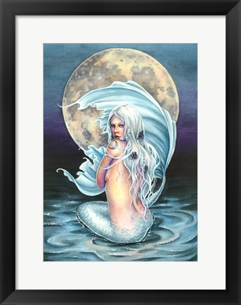 Framed Moon Mermaid Print