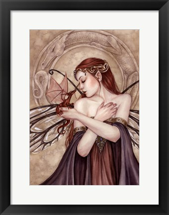 Framed Winged Things Print