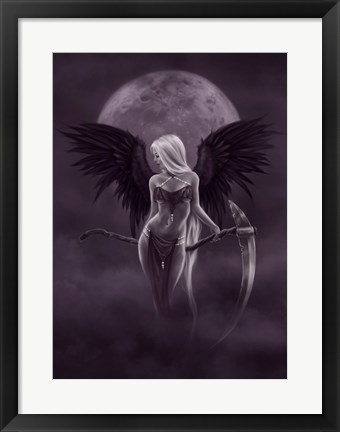 Framed Dark Moonlight Angel Print