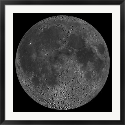 Framed Mosaic of the Lunar Nearside Print