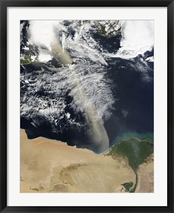 Framed Dust Plume Stretches Across the Mediterranean Sea Print