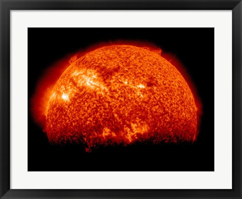 Framed Spring Eclipse as viewed from the Solar Dynamics Observatory Print