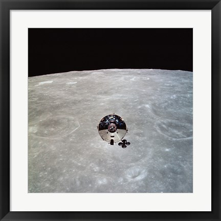 Framed Apollo 10 Command and Service Modules in Lunar Orbit Print