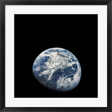 Framed View of Earth taken from the Aollo 8 Spacecraft Print