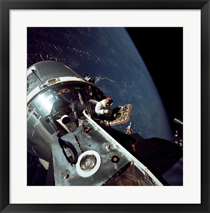 Framed Docked Apollo 9 Command and Service Modules and Lunar Module Print