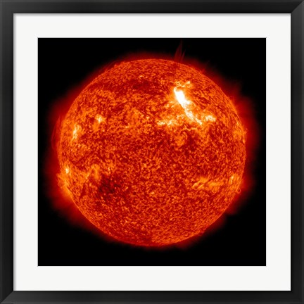 Framed Intensity M87 solar Flare on the Sun's Surface Print