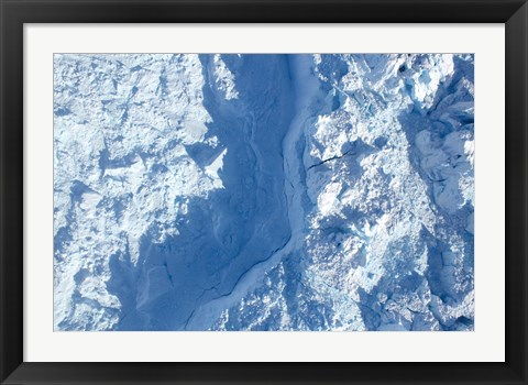 Framed Calving front of the Jakobshavn Glacier Print