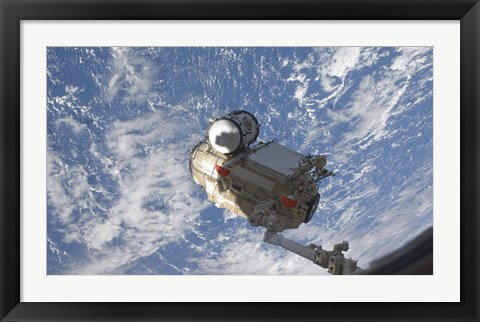 Framed Mini Research Module 1 Segment of the International Space Station Print