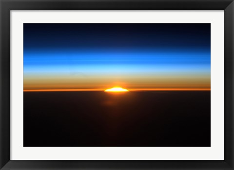 Framed Sunrise as Seen from the International Space Station Print