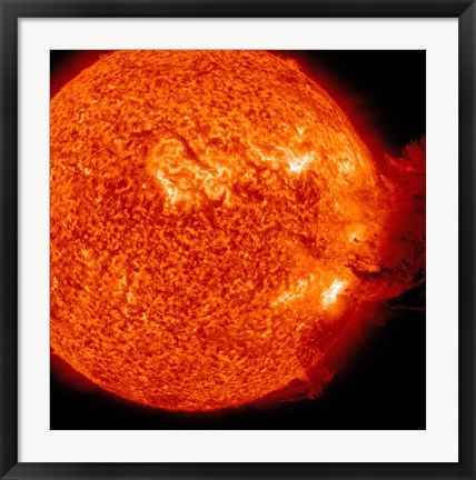 Framed M-2 solar Flare with Coronal Mass Ejection Print
