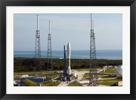 Framed Atlas V-551 Launch Vehicle at Cape Canaveral Air Force Station in Florida Print
