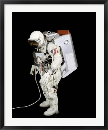 Framed Spacesuit used by Gemini VIII Astronauts Print