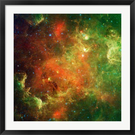 Framed Clusters of Young Stars in the North American Nebula Print