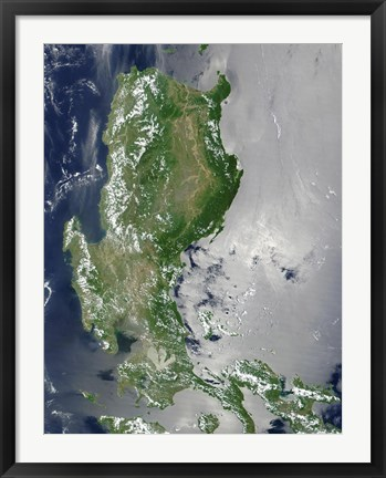 Framed Satellite Image of the Northern Philippines Print