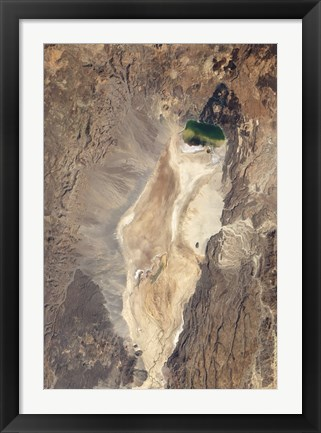 Framed Natural-Color Image of the North End of the Suguta Valley in Kenya Print