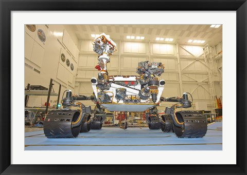 Framed Laboratory rover of Mars Science, Curiosity Print