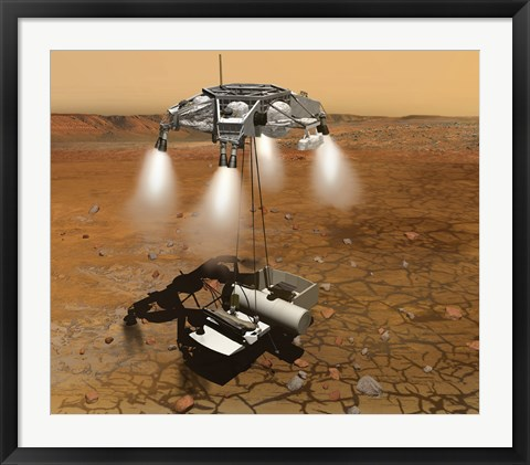 Framed Artist's Concept of an Ascent Vehicle Leaving Mars Print