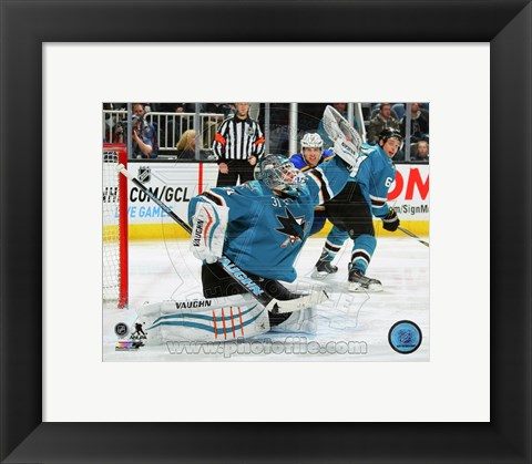 Framed Antti Niemi 2014-15 Action Print