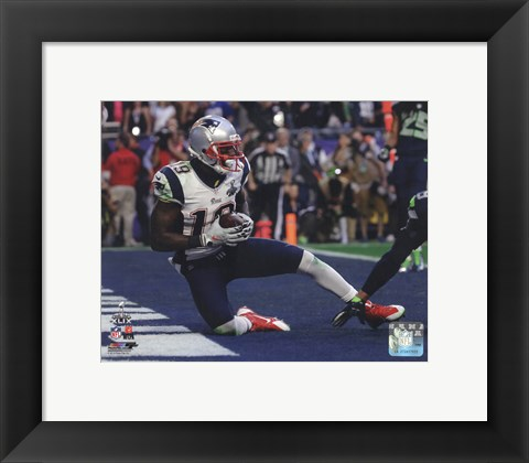 Framed Brandon LaFell Touchdown Super Bowl XLIX Print
