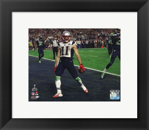 Framed Julian Edelman Touchdown Super Bowl XLIX Print