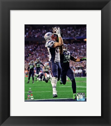 Framed Rob Gronkowski Touchdown Super Bowl XLIX Print