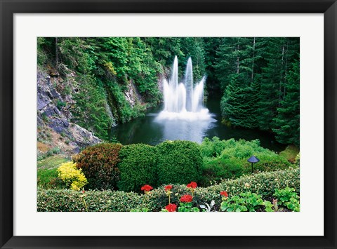 Framed Butchart Gardens, Saanich, Vancouver Island, British Columbia Print