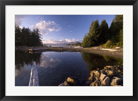 Framed Keith Island, Pacific Rim NP, British Columbia Print