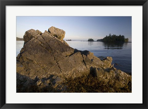 Framed Keith Island, Pacific Rim, British Columbia Print
