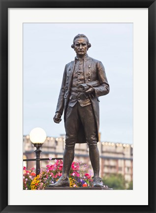 Framed British Columbia, Victoria, Captain James Cook Statue Print