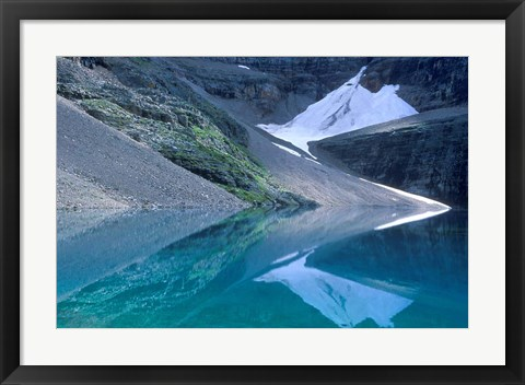 Framed Lake Oesa, Yoho National Park, British Columbia, Canada Print