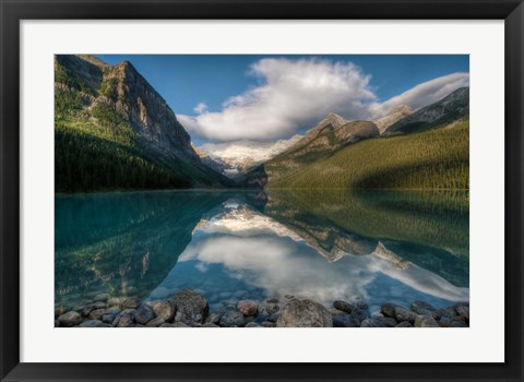 Framed Lake Louise at sunrise, Banff National Park, Canada Print