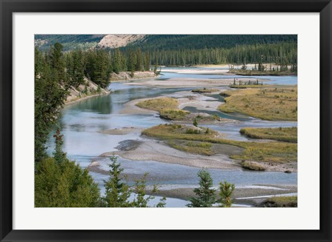 Framed Rivers in Jasper National Park, Canada Print