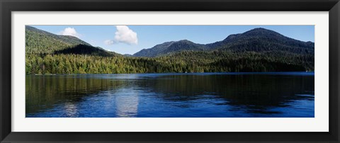 Framed Lake with mountains, Morse Basin, Prince Rupert, British Columbia Print