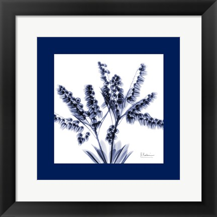 Framed Lily of the valley bush Bordered Print