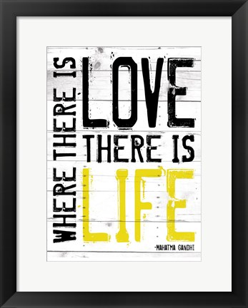 Framed Love Life - Yellow Print