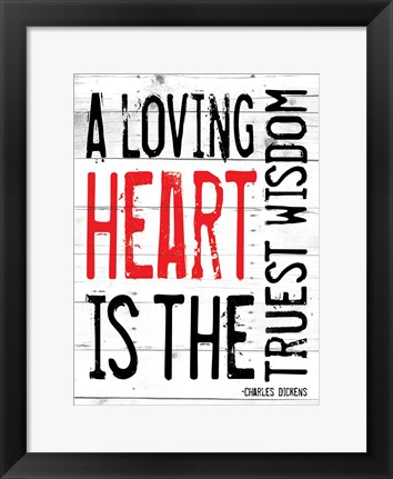 Framed Loving Heart - Red Print
